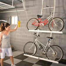 Ceiling Bike Rack Flat by Diy Ceiling Bike Rack For Garage Ceilings Storage And Garage