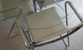 Dwell Designer Drop Leaf Glass Table Can Fold Down Or Extended Sits 4 Easily Heavy Original Cost Of Chairs GBP580 When New