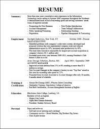 Good Resume Examples Resumes Barback Hotel Samples