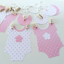 Baby Shower Decorations Banner Wishes For Baby Girl Cut Out Pink