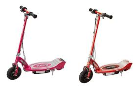 Razor E100 The Electric Scooter Features A Kid Sized Deck And Frame For Riders Eight Up This Quiet Running Powered Tops Out At