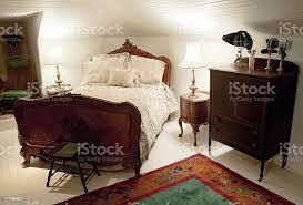 antikes schlafzimmer stockfoto und mehr bilder alt