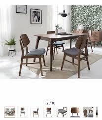 stuhl esszimmerstuhl design scandi holz gummibaum walnuss