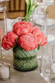 Coral Color Decorations For Wedding by Best 20 Peonies Centerpiece Ideas On Pinterest Peony Flower