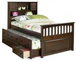 captain bed with trundle and storage foter