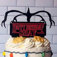 personalised things birthday cake topper birthday