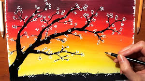 Landscape In Colored Pencil How To Draw Sunset Drawing Nature Tree Sky Scenery