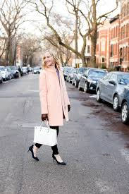 The Sweetest Light Pink Coats Kelly in the City