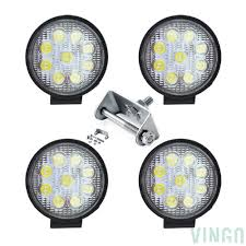 VINGO 4x 27w LED Work Lights Round Offroad Headlight Truck Man ... Led Work Lights For Truck 2 Pcs 6 Inch Light Bar 45w 12v Flood Led Work Day Light Driving Fog Lamp 4inch 72w Bar Road Headlight Work Lights Spot Offroad Vehicle Truck Car Vingo 4x 27w Round Man 4 Inch 48w Square Off 24v Cube Design For Trucks 3 Row Suv Boat Or Jeeps 2pcs Beam Tractor China Offroad Atv Jeep Jinchu Safego 2x 27w Led Offroad Lamp 12v Tractor New Automotive 40w 5000lm 12 Volt
