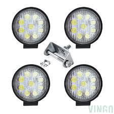 100 Led Work Lights For Trucks VINGO 4x 27w LED Round Offroad Headlight Truck Man