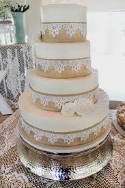 Burlap And Lace Wedding Cake Cant Get Any More Rustic Than