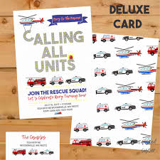 100 Fire Truck Birthday Party Invitations Envelopes Engine Free Online