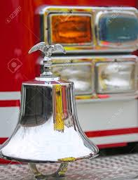 100 Fire Truck Bell American Engine With Gleaming Eagle Symbol Above