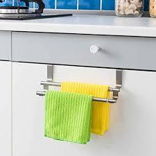 über küche schrank tür handtuchhalter aufhänger halter aufbewahrung handtuchstange badezimmer handtuch regal edelstahl zweipolig handtuch rack