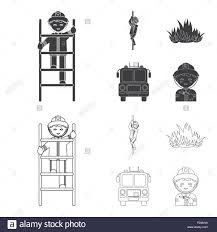 Fireman, Flame, Fire Truck. Fire Department Set Collection Icons In ... Firetruck Clipart Free Download Clip Art Carwad Net Free Animated Fire Truck Outline On Red Neon Drawing Stock Illustration 146171330 Engine Thin Line Icon Vector Royalty Coloring Page And Glyph Car With Ladder Fireman Flame Departmentset Colouring Pages Trucks Printable Lineart Of A Cartoon Black And White With Linear Style Sign For Mobile Concept Truck Icon Outline Style Image Set Collection Icons