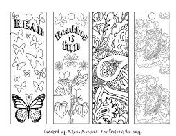 Free Coloring Bookmarks Perfect For Back To School Fun And Practical