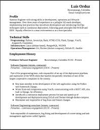 Freelance Software Engineer Resume This Is A Summary Of My Experience And Education Profile Systems With Strong Skills In Development