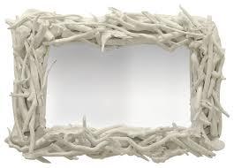 Custom Driftwood Mirror White Gloss
