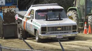 1974 Chevy C10 2wd Super Stock Truck Pull - YouTube