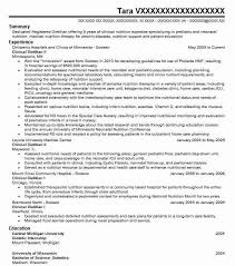 Dietetic Intern Resume Example State University Of New York At