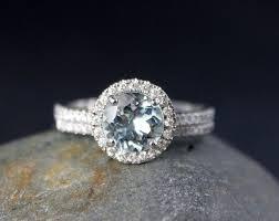 19 best Custom Aquamarine Birthstone Engagement Rings images on