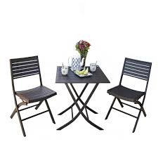 Folding Patio Chairs Target by Amazing 3 Piece Bistro Patio Set Target 67 About Remodel Balcony