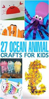 Seashell Crafts For Preschoolers Sea Animal Ideas Octopus Kids On Sand Art
