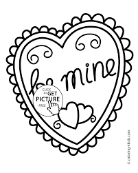 Valentines Day Heart Coloring Pages For Kids Printable Free