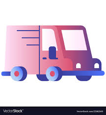 Mini Truck Gradient Royalty Free Vector Image - VectorStock