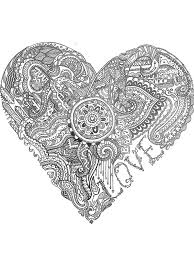 Doodle Art Love Heart Black And White Pen Drawing Print