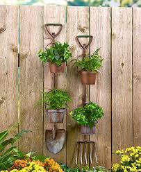 Display Flowers Or Show Off Your Herbal Garden With These Hanging Rustic Country Planters Designed To Resemble A Traditional Gardening Tool It Features 2