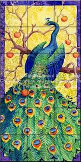 backyard bird decorative wall tiles tuscan peacock tile mural