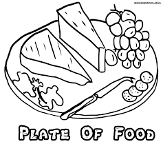 Empty Plate Coloring Page Pages