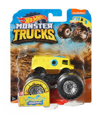 100 Hot Wheels Monster Truck Toys Monster Truck Spongebob 9 Cm Yellow Internet