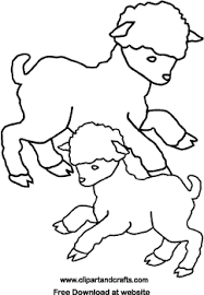 Baby Lamb Easter Coloring Pages