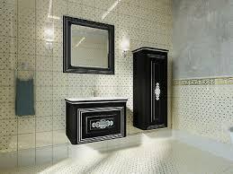 badmöbel set badezimmermöbel antik schwarz silber led beleuchtung vormontiert ebay