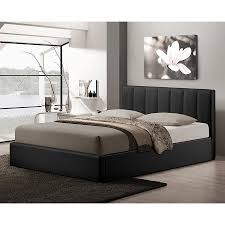 Baxton Studio Platform Bed by Shop Baxton Studio Templemore Black Queen Platform Bed With