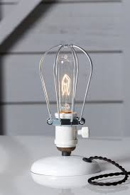 Industrial Desk Light Wire Cage Table Lamp