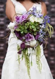 Wildflower Succulent Rustic Wedding Bridal Bouquet Trends 2014