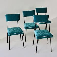 Set Of Four Dining Room Chairs, France, 1950s Upholstered Modern Ding Room Chairs Mid Century Table Teal Blue Fabric Set Of 2 Edloe Finch Colorful Painted Inspiration Addicted Mod The Sims And Chair In 12 Fluro Colours Hot Item Extension Hpl Glass Grey Fniture Table With Chairs Lamps Whats On Pinterest Keep Calm These Beautiful Turquoise Amazing Resin Gorgeous Oak 6 Made For Sale Weybridge Surrey Gumtree American Drew Park Studio Contemporary 9 Piece Bright In Style With Designer Kitchen Lazboy