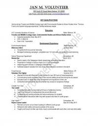 Peace Corps Environment Sample Resume