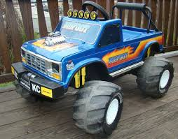 Vintage 1989 Bigfoot Monster Truck Childs RideOn Toy Ford Power ...