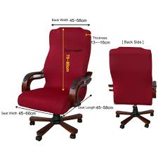 ELEOPTION Office Chair Seat Cover Stretch High Back Large Size, Universal  Chair Cover For Computer Chair Executive Chair Rotating Swivel Chair Boss  ... Leather Office Chair Cover Beandsonsco View Photos Of Executive Office Chair Slipcovers Showing 15 Melaluxe Cover Universal Stretch Desk Computer Size L Saan Bibili Help Gloves Shihualinetm Cloth Pads Removable Gallery 12 20 Size Washable Arm Slipcover Rotating Lift Covers Chairs Without Arms Ikea Ding Room Slipcover Eleoption Seat High Back Large For Swivel Boss Lms C Best With Lumbar Support Small