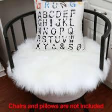 details zu stuhlbezug weiches schaffell wohnkultur kunstpelz sitzkissen teppiche boden rund