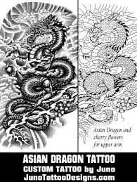 Asian Dragon Tattoo Template Juno Designs