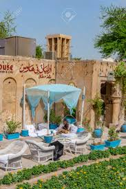 100 Backyard Tea House Dubai UAE 11 05 2018 Traditional In Old Dubai In