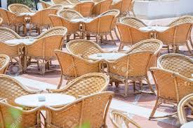 Rattan Table And Chairs In Beach Cafe Next To The Red Sea In.. 315 Round Alinum Table Set4 Black Rattan Chairs 8 Seater Ding Set L Shape Sofa Brown Beige Garden Amazoncom Chloe Rossetti 17 Piece Outdoor Made Coffee Table Set Stock Photo Image Of Contemporary Hot Item Modern Fniture Stainless Steel And Lordbee Large 5 Pcs Patio Wicker Belleze 3 Two One Glass Details About Chair Cushion Home Deck Pool 3pc Durable For Pcs New Y7n0