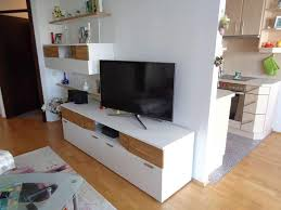 fernseh tv kommode weiß braun