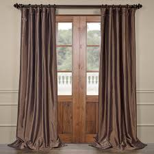 105 Inch Blackout Curtains by Mushroom Blackout Faux Silk Taffeta Curtains Drapes