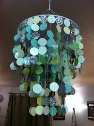 We Could Get Fancy Schmancy Scrapbook Paper In Colors You Like And Make This Chandelier To